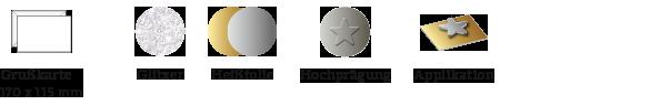 Bonjour Grußkarten Symbole