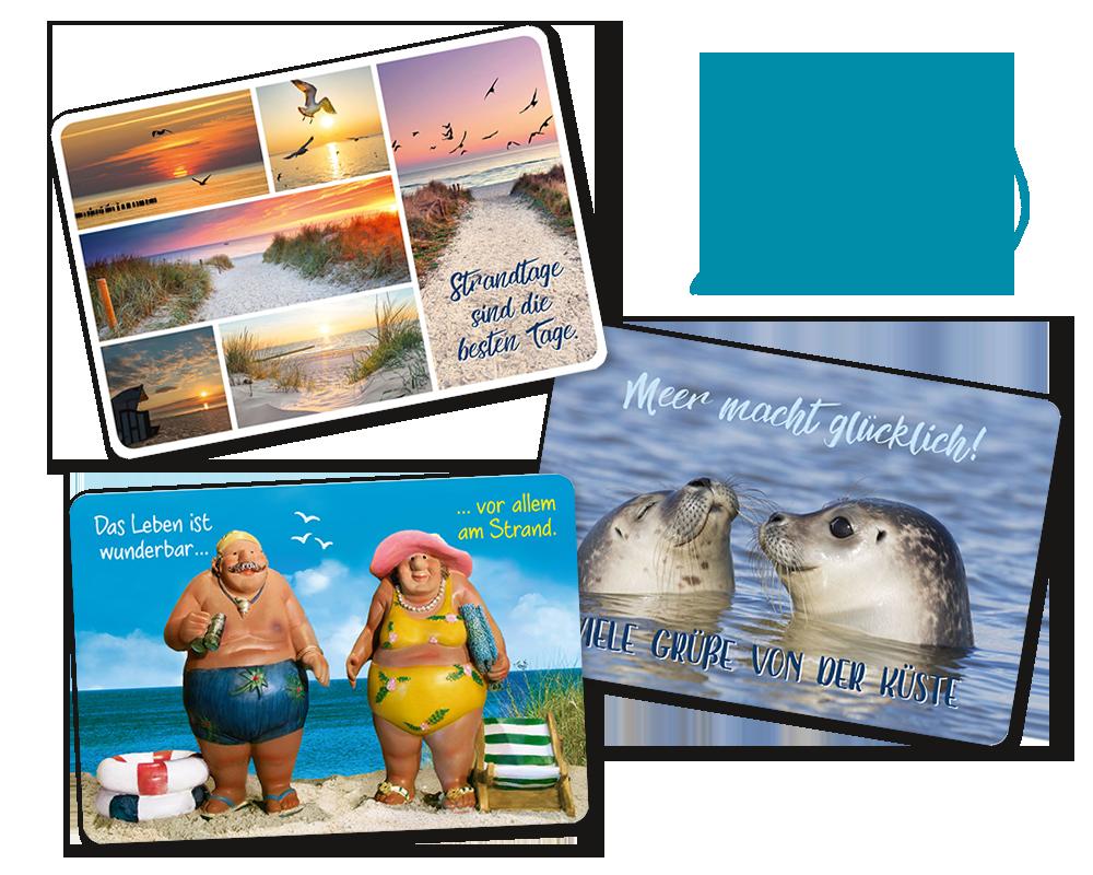 Sand und Meer Postkarten Auswahl