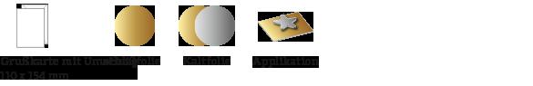 Voilà Grußkarten Symbole